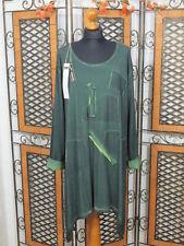 %% Barbara Speer lange Tunika/Shirt mit Applikationen in grün old look NEU!!!