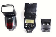 (2) Canon 550Ex Speedlite Flashes with Canon St-E2 Ir Speedlite Transmitter Used