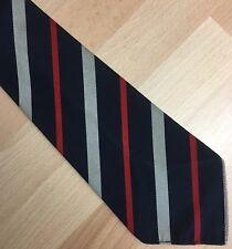 Skinny 1950s Terylene Tie Black Red & Grey Stripes