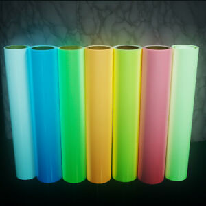 7 colors Bundle GLOW IN THE DARK Heat Transfer Vinyl T-shirts Clothes Film HTV