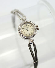 14K GOLD OMEGA VINTAGE LADIES MECHANICAL DRESS WATCH DIAMONDS .35CTTW #3845-1