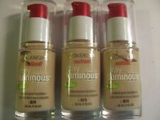 Covergirl Outlast Stay Luminous Natural Glow Foundation #810 Classic Ivory x 3
