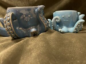 BATH & BODY WORKS BLUE OCEAN TURQUOISE DEEP SEA OCTOPUS CANDLE SOAP HOLDER NEW