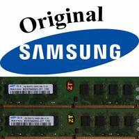 2x 2GB 4GB SAMSUNG RAM PC Arbeitsspeicher DDR2 800 Mhz INTEL + AMD