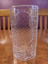 "Beautiful Oiva Toikka Nuutajarvi Finland Flora Clear 8 1/2"" Glass Vase"