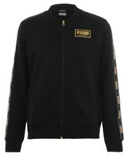 PUMA Jacket Tracktop Mens Black Gold Sportwear Collection Medium  *REF121