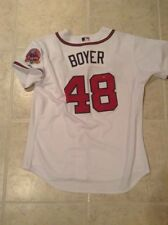 2006 Blaine Boyer Atlanta Braves MLB authentication Team issued wht home Jersey