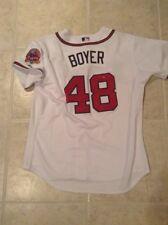 33c9757b7 2006 Blaine Boyer Atlanta Braves MLB authentication Team issued wht home  Jersey