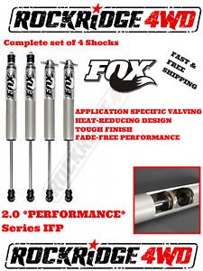 "FOX IFP 2.0 PERFORMANCE Series Shocks for 05-16 FORD F250 F350 w/ 4"" of Lift"