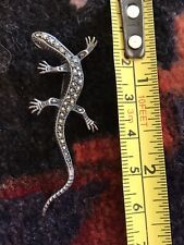 Marcasite Lizard Sterling Silver - Vintage