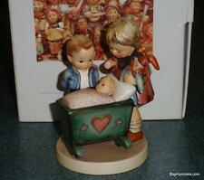 """Blessed Event"" Goebel Hummel Figurine #333 TMK6 Brother & Sister With Newborn"