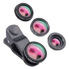 Yarrashop Universal 4 in 1 Clip-On iPhone Lens Smartphone Camera Lens Kit wit...