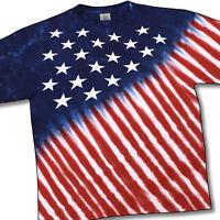 USA FLAG-STARS & STRIPE-Tie Dye SHIRT-Patriot M-L-XL-2X-3X-4X-5X-6X-Yth S-M-L-XL