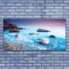 Acrylglasbilder Wandbilder aus Plexiglas® 140x70 Meer Steine Strand Landschaft