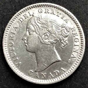 Canada/ 10 Cents 1882-H/ KM-3/ Excellent Condition/ SILVER COIN