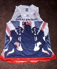 Rio 2016 Olympic Adidas Womens Singlet Running Vest Team GB sz12