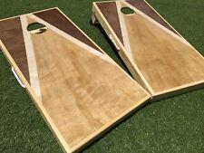 Tri Stained Triangle Custom Cornhole Set