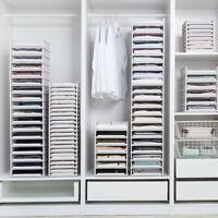 Detachable Wardrobe Organizer Clothes Storage Basket Multi-layer Stackable Shelf