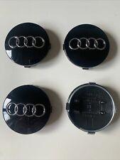 Centre De Roue Cache Moyeu Audi 60mm noir A1,2,3,4,5,6,7,8 TT. Neuf Envoie SUIVI
