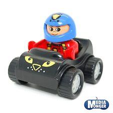 LEGO DUPLO RACING POUSSETTE VOITURE DE COURSE NOIR AVEC PILOTE AUTOMOBILE rouge