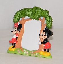 New Disney Mickey & Minnie Mouse 2 x 3 Table Top Photo Frame . Trees & Flowers