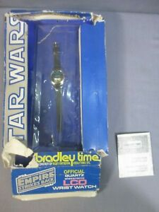 Star Wars R2-D2 C-3PO LCD Wrist Watch UNUSED Bradley Time Quartz 1980 Vintage