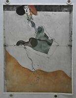 Wolfgang Gafgen German Mid Century Modern Abstract Color Etching Print