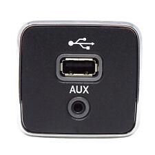 Modulo spina audio 3.5mm AUX+porta USB per autovetture Jeep Dodge e Chrysler M1M
