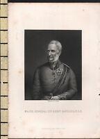 C1830 Georgianisch Aufdruck ~ Große Allgemeine Sir Henry Havelock K. C. B