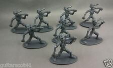 8 Zombies Dark Gray Plastic Undead Movie Monster Figures Lot