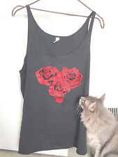 Rose Heart (S size) CHARCOAL Slouchy Tank top Bella - Jam T Jam