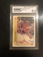 1986 Fleer Sticker #8 Michael Jordan RC GEM MINT ROOKIE Card 9.5 PSA 9 or 10 🔥