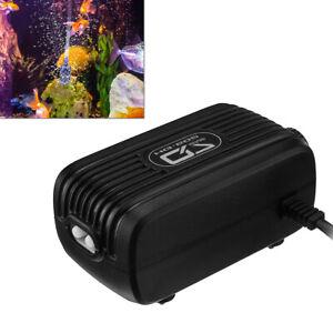Aquarium Fish Tank Air Pump Quite Silent Flow Oxygen Bubbles Stone Outlet Valve