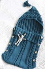 Knitting Pattern Baby's Aran Sleep Sack with Tassel Hood 0-3 Months   (166)