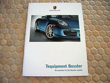 PORSCHE OFFICIAL BOXSTER & BOXSTER S TEQUIPMENT BROCHURE 2008 USA EDITION