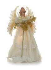 """Winter Lane Fiber Optic Musical Angel Tree Topper 16"""",  HSN Price $90"""
