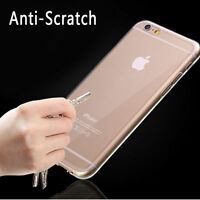 For iPhone 6 /6s / Plus Ultra Thin Clear Crystal Rubber TPU Soft Case Cover Skin