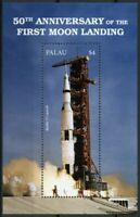 Palau Space Stamps 2018 MNH Moon Landing 50th Anniv Apollo 11 Launch 1v S/S