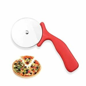 Stainless Pizza Cutter Kitchen Tool Slicer Non Stick Wheel Food Cutting Roller