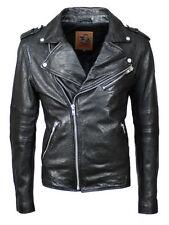 Cappotti e giacche da uomo nere lunghezza alla vita in pelle