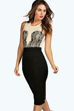 Boohoo Sleeveless Women's Round Neck Dresses