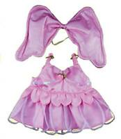 "PINK BUTTERFLY DRESS with WINGS - FITS 16"" /40cm BUILD A TEDDY BEAR CLOTHES"