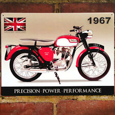 Triumph tiger cub Métal Signe Mur vintage plaque garage moto 40x30cm 50908