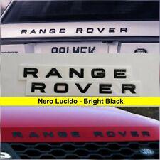 Scritta RANGE ROVER Nero Lucido evoque sport vogue velar land rover logo stemma
