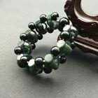 Chinese Hand Carved jade Hollow head Bead Natural  Hetian jade  Bracelet