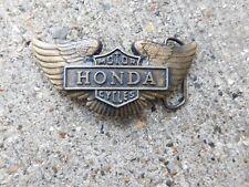 VINTAGE WINGED HONDA MOTORCYCLE BELT BUCKLE