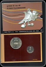 Rs 100/- UNC COIN ISSUED BY RBI 150 YEARS OF TELECOMMUNICATIONS !