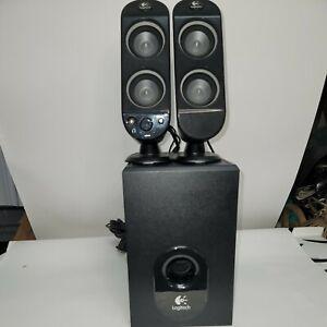 Logitech X-230 5.1 Computer Speaker System 2 speakers + Subwoofer. Tested