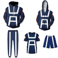 My Hero Academia Men T-shirt Trouser Hoodie Sport Gym Costume All Might Cosplay