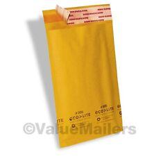 """500 4x8 #000 Ecolite Premium Kraft Bubble Mailers Envelopes 4"""" x 8, 100 4x6 Bags"""